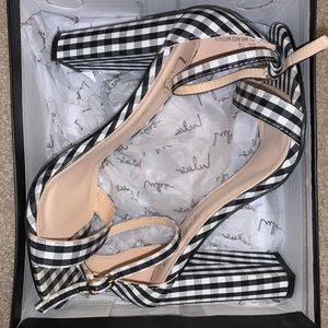 Gingham Lulus heels